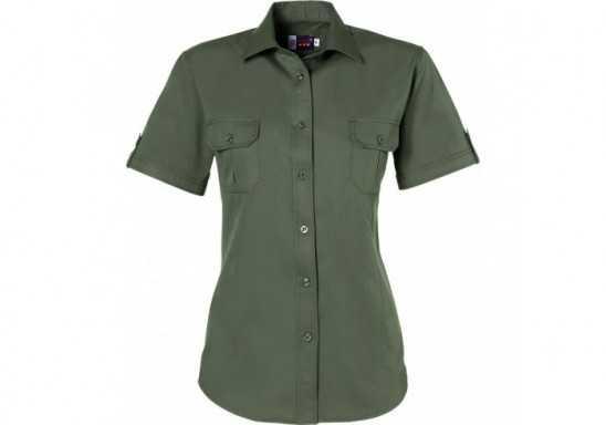 US Basic Safari Ladies Short Sleeve Shirt