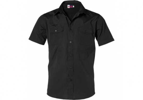 US Basic Bayport Mens Short Sleeve Shirt - Black