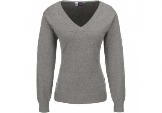 US Basic Ladies Long Sleeve Trenton V-Neck Jersey - Black