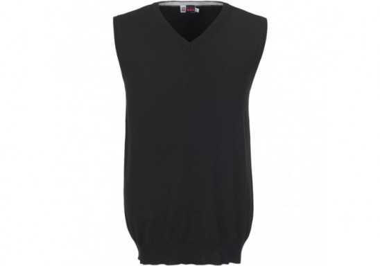 US Basic Mens Sleeveless Trenton V-Neck Jersey - Black