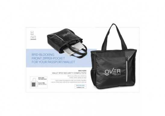 Vault Rfid Security Compu-Tote - Black