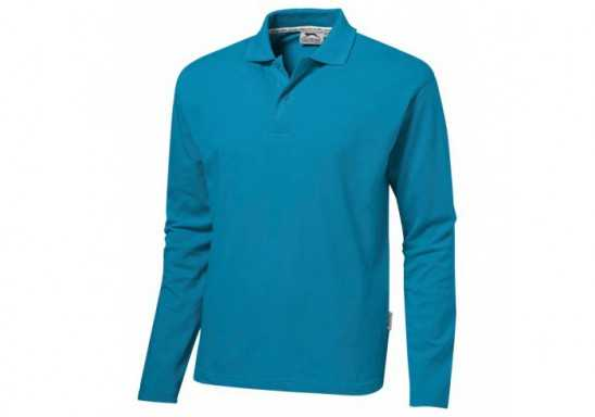 Slazenger Zenith Mens Long Sleeve Golf Shirt - Aqua