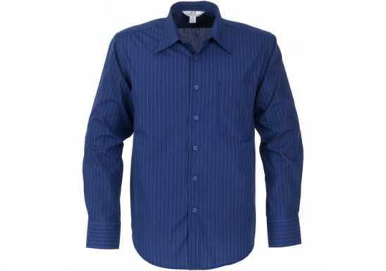 Manhattan Mens Striped Long Sleeve Shirt