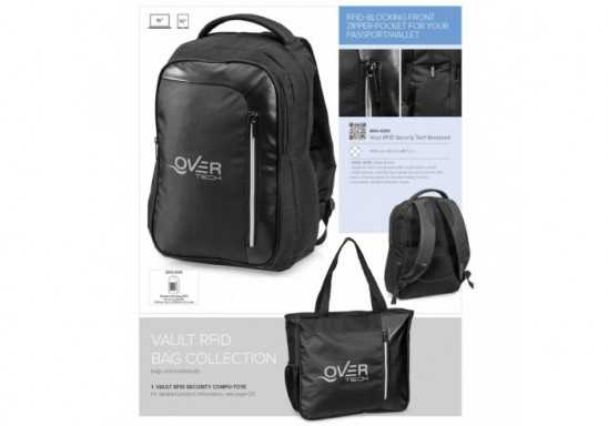 Vault Rfid Security Tech Backpack - Black