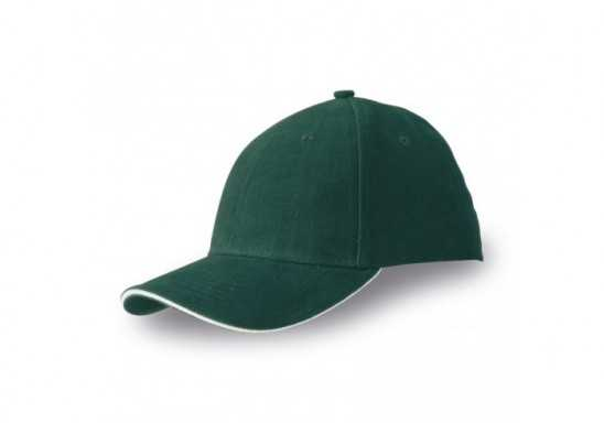 Slazenger 6 Panel Sandwich Cap - Green