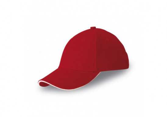 Slazenger 6 Panel Sandwich Cap - Red