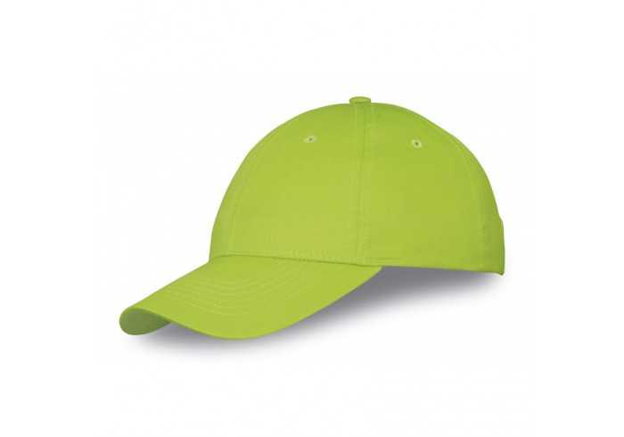 Us Basic Detroit 6 Panel Cap - Lime