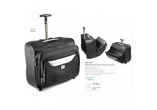 Manhattan Tech Trolley Bag - Black