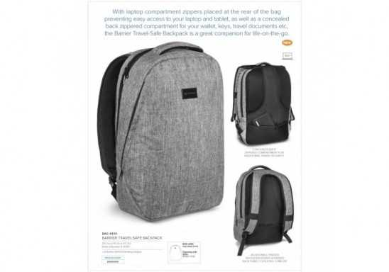Barrier Travel-Safe Backpack - Grey