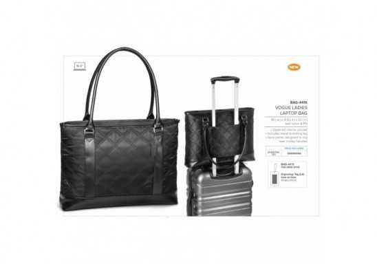Vogue Ladies Laptop Bag - Black