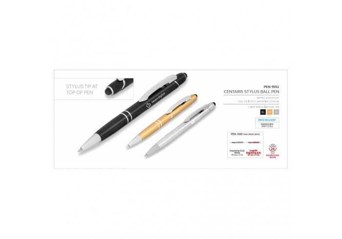 Centaris Stylus Ball Pen - Gold
