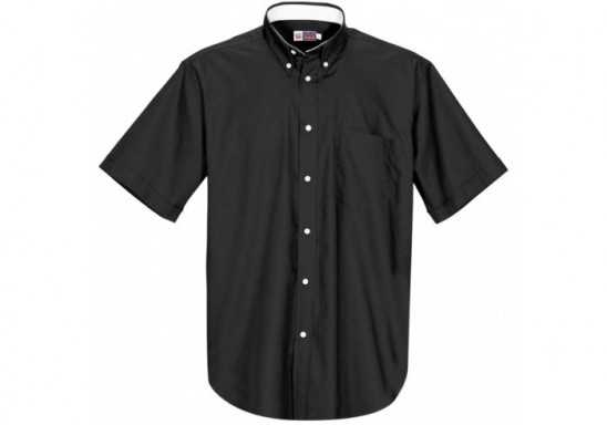 US Basic Aspen Mens Short Sleeve Shirt - Black