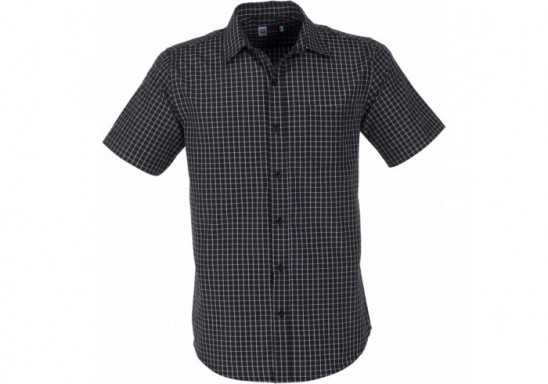 US Basic Aston Mens Short Sleeve Shirt - Black