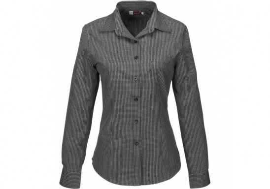 US Basic Huntington Ladies Long Sleeve Shirt - Black
