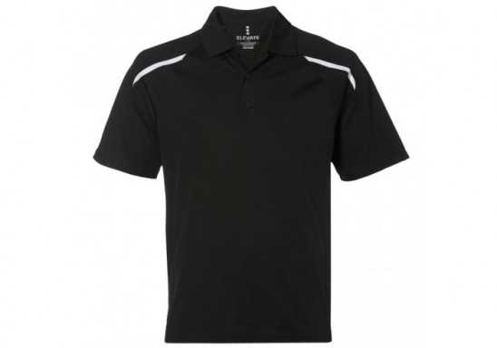 Elevate Nyos Mens Golf Shirt - Black