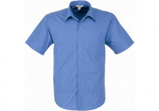 Micro Check Mens Short Sleeve Shirt