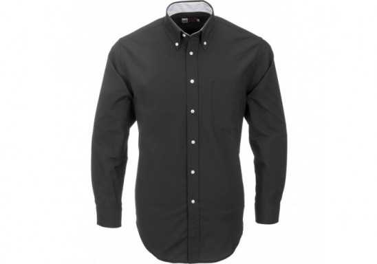US Basic Aspen Mens Long Sleeve Shirt - Black