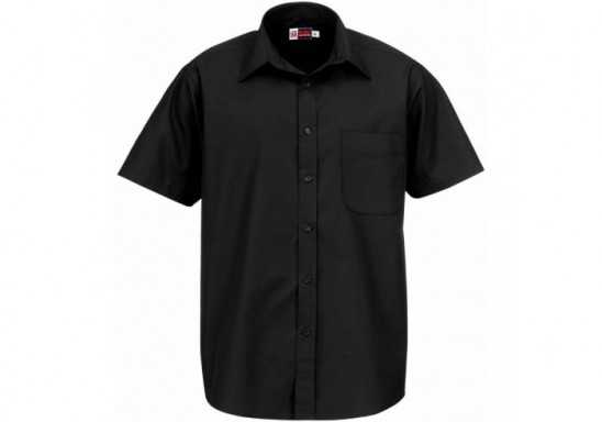 US Basic Washington Mens Short Sleeve Shirt - Black