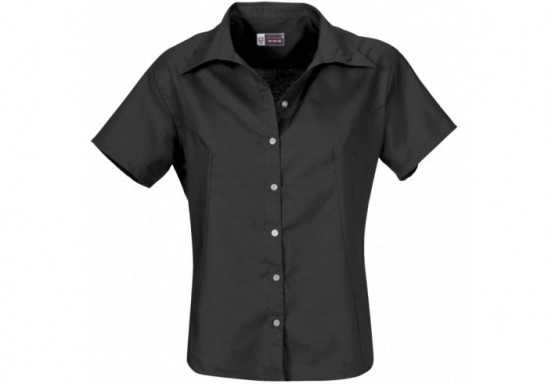 US Basic Aspen Ladies Short Sleeve Shirt - Black