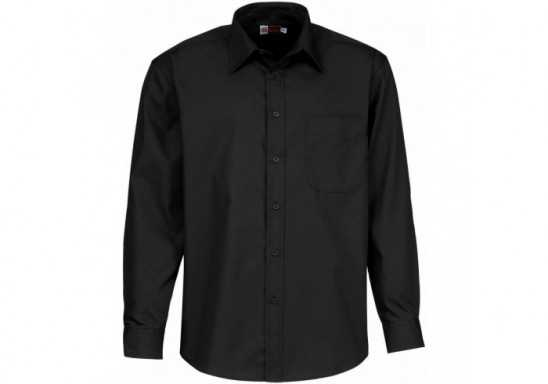 US Basic Washington Mens Long Sleeve Shirt - Black