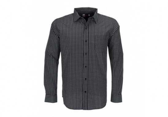US Basic Aston Mens Long Sleeve Shirt - Black