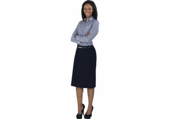 US Basic Ladies Long Sleeve Windsor Shirt