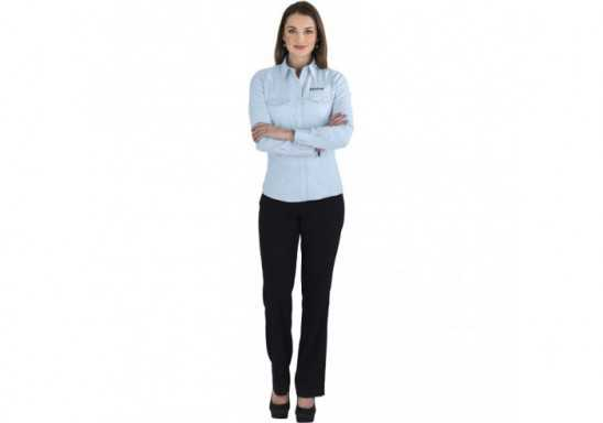US Basic Bayport Ladies Long Sleeve Shirt