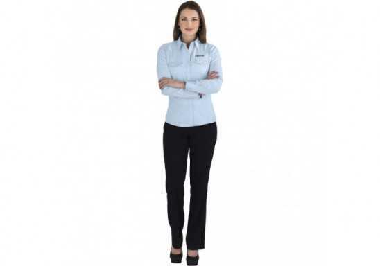 US Basic Bayport Ladies Long Sleeve Shirt