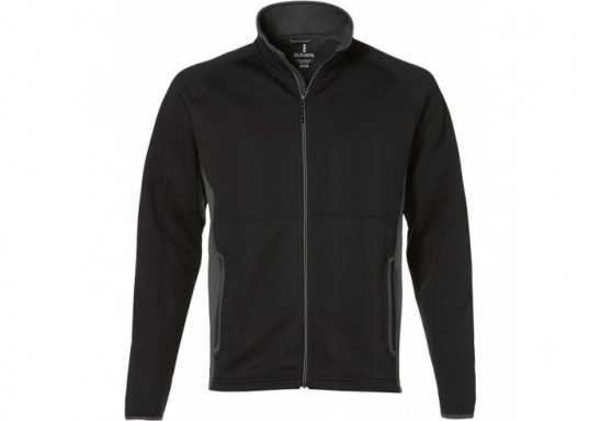 Elevate Ferno Mens Bonded Knit Jacket - Black