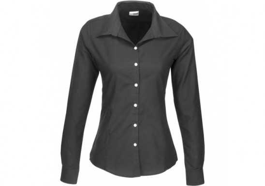 US Basic Aspen Ladies Long Sleeve Shirt - Black