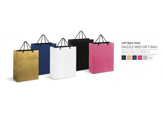 Dazzle Midi A4 Gift Bag - Silver