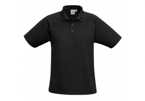 Kids Sprint Golf Shirt - Black