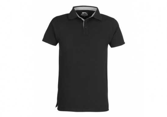 Slazenger Mens Hacker Golf Shirt - Black