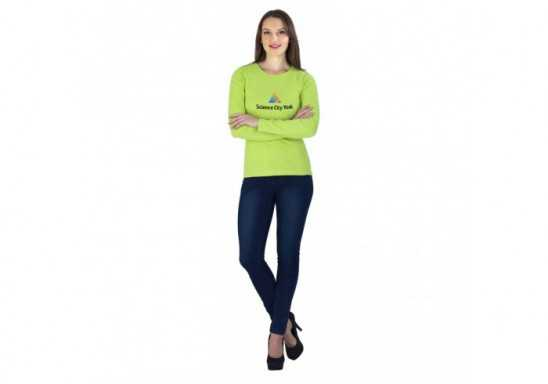 US Basic Ladies Long Sleeve Portland T-Shirt