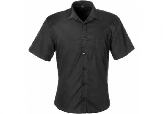 US Basic Mens Short Sleeve Milano Shirt - Black