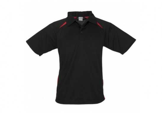 Splice Kids Golf Shirt - Black With Red