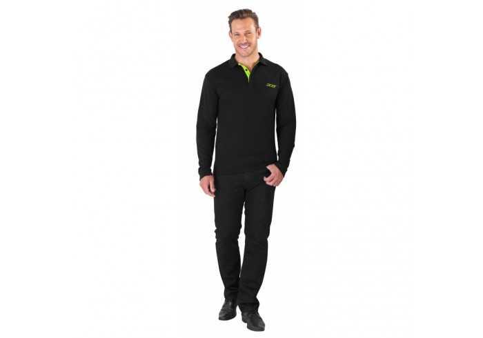 US Basic Mens Long Sleeve Solo Golf Shirt