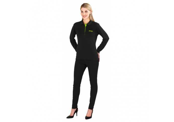 US Basic Ladies Long Sleeve Solo Golf Shirt