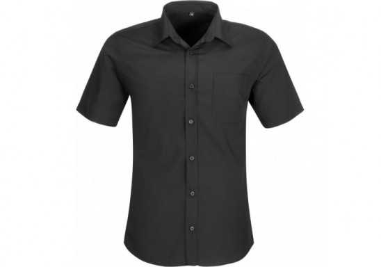 US Basic Mens Short Sleeve Kensington Shirt - Black