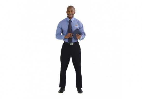 Micro Check Mens Long Sleeve Shirt
