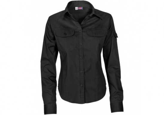 US Basic Phoenix Ladies Long Sleeve Shirt - Black