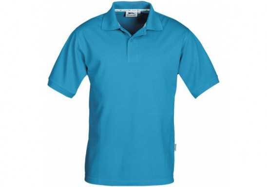 Slazenger Crest Mens Golf Shirt - Aqua