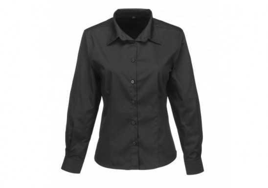 US Basic Ladies Long Sleeve Milano Shirt