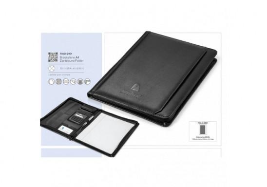 Brookstone A4 Zip-Around Folder
