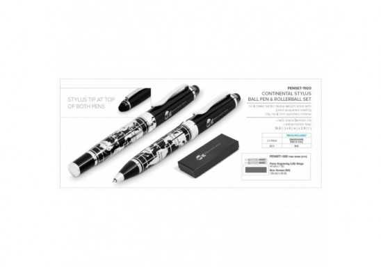 Continental Stylus Ball Pen & Rollerball Set