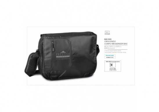 Crescendo Compu-Messenger Bag - Black