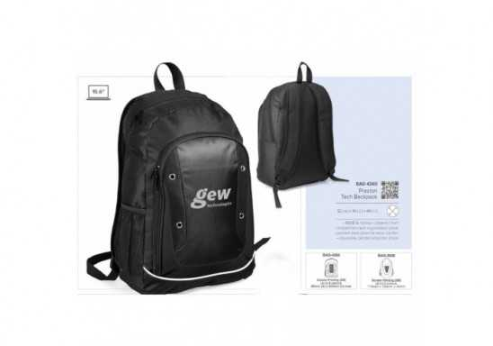 Preston Tech Backpack - Black