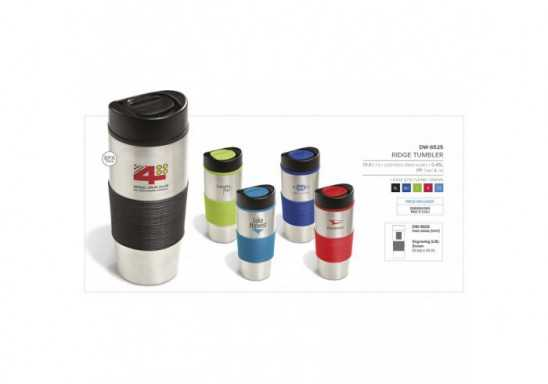 Ridge Double Wall Tumbler - 450Ml - Lime