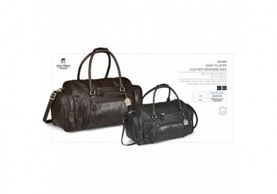 Gary Player Leather Weekend Bag - Brown