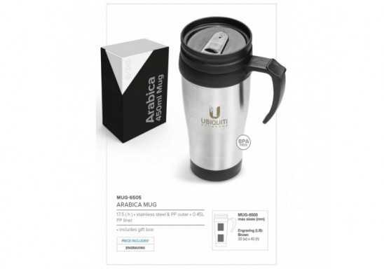 Arabica Double Wall Mug- 450Ml